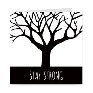 kaart: stay strong, met boom
