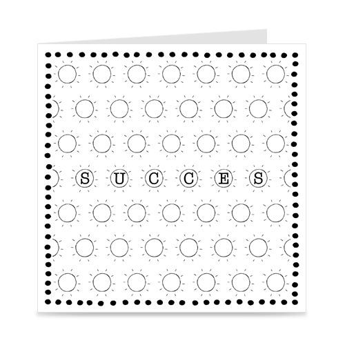 kaart: succes, met zonnetjes