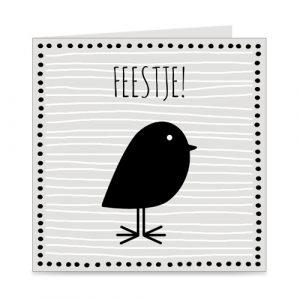 kaart | uitnodiging kinderfeestje | vogeltje
