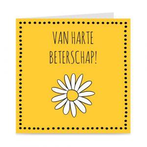 beterschapskaart met bloem