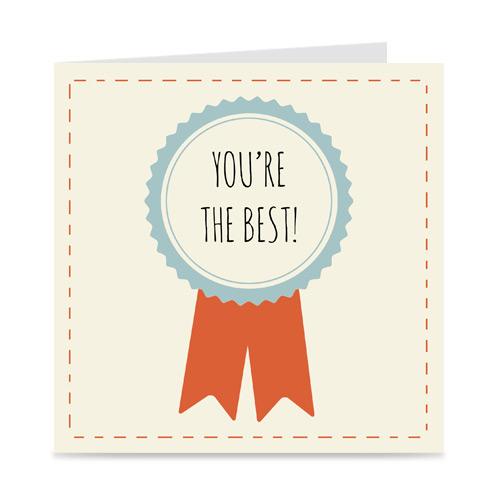 kaart: you're the best, met rozet