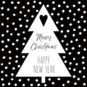 Kerstboom | zwart/wit