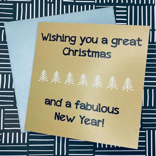 kerstkaart | great christmas & fabulous new year