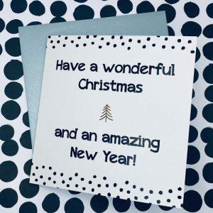 kerstkaart | wonderful christmas & amazing new year