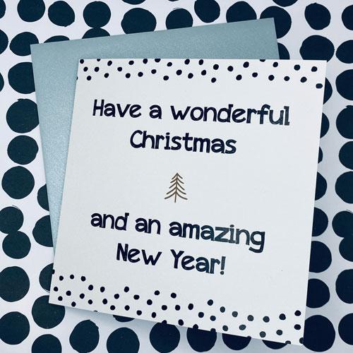 kerstkaart   wonderful christmas & amazing new year