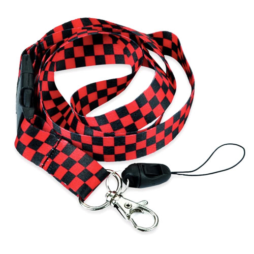 keycord | geruit | rood-zwart