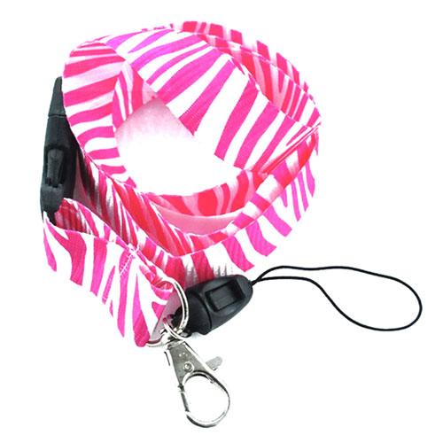 keycord   pink zebra