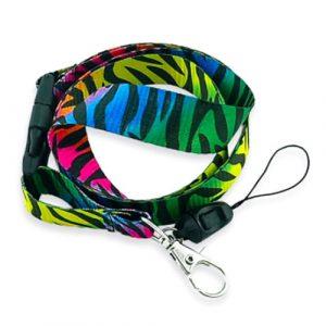 keycord | rainbow zebra