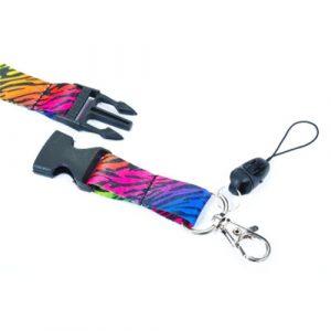 keycord / sleutelkoord | rainbow zebra
