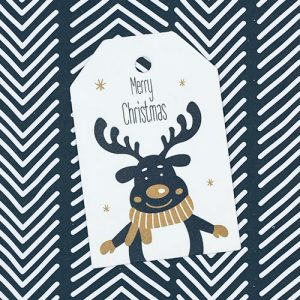 label | kerst | merry christmas | rendier