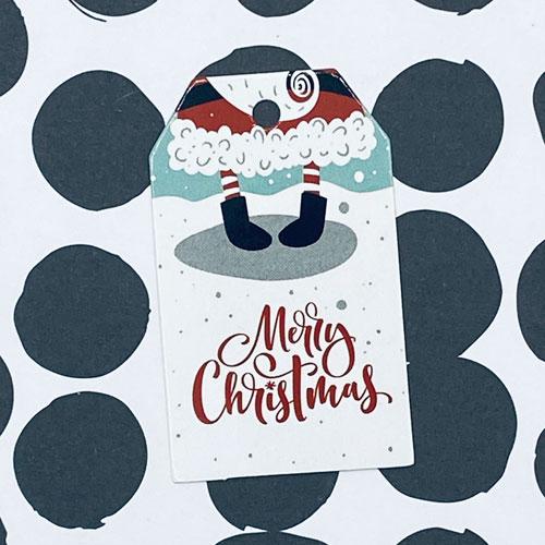 label | kerst | merry christmas | voetjes kerstman