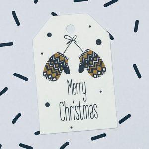 label | kerst | merry christmas | wanten