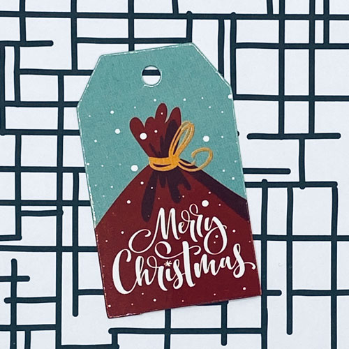 label | kerst | merry christmas | zak met kadootjes