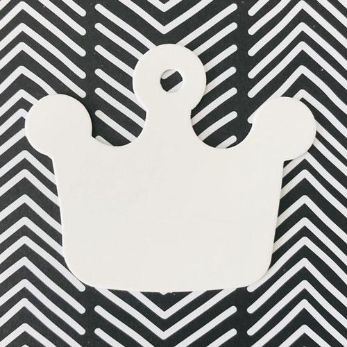 label | kroontje | wit