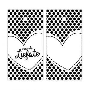 label | voor de liefste | hartje