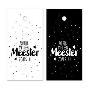 label | zo blij met een meester zoals jij