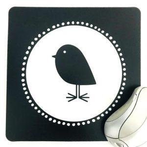 muismat | bird | vierkant