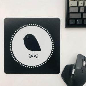 muismat / mousepad | bird | vierkant