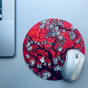muismat / mousepad | blossom | red