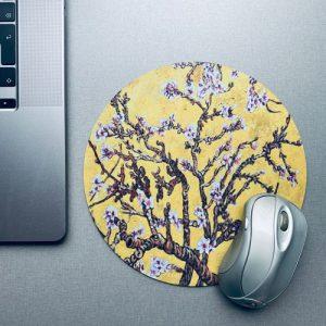 muismat / mousepad | blossom | yellow