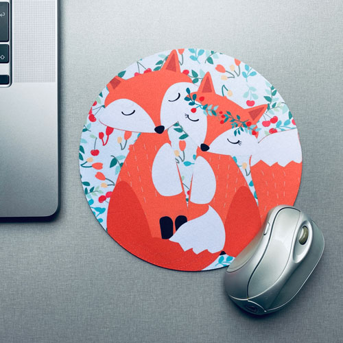 muismat / mousepad   foxes in love