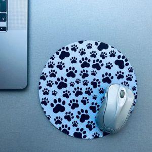 muismat / mousepad | pootafdrukken | hond-kat