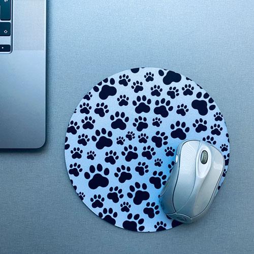muismat / mousepad   pootafdrukken   hond-kat