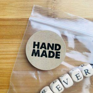 ronde sticker | handmade | kraft