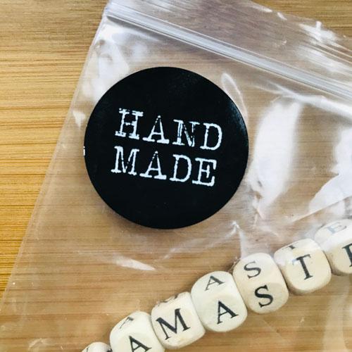 ronde sticker | handmade | zwart-wit