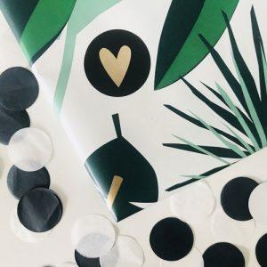 ronde sticker | hartje | zwart-kraft