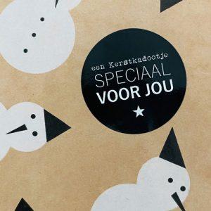 ronde sticker | kerst | een kerstkadootje speciaal voor jou