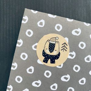 ronde sticker | kerst | kraft | diertje