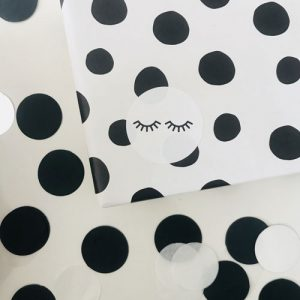 ronde sticker | wimpers