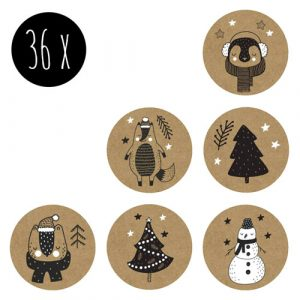 set stickers | kerst | kraft | 36x
