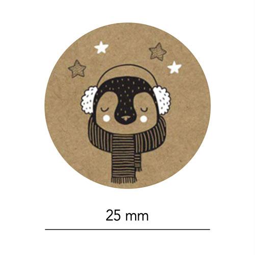 set stickers | kerst | kraft | afmeting