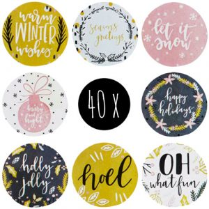 set stickers | kerst | let it snow | 40x