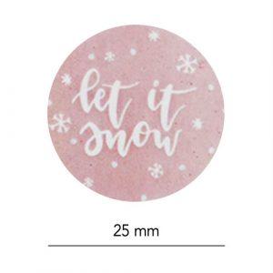set stickers | kerst | let it snow | afmeting