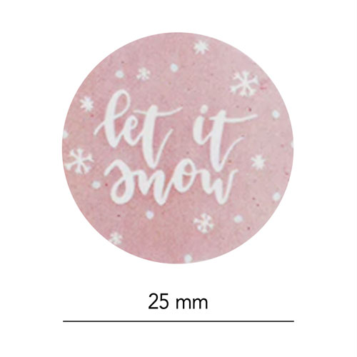 set stickers   kerst   let it snow   afmeting