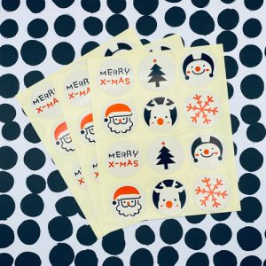 set stickers | kerst | merry xmas | 36x