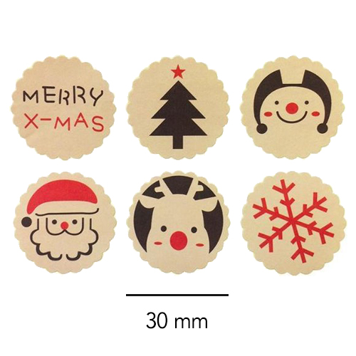 set stickers | kerst | merry xmas | afmeting