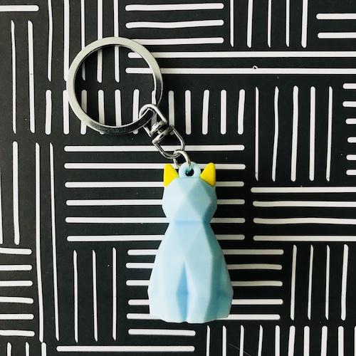 sleutelhanger | kat | blauw