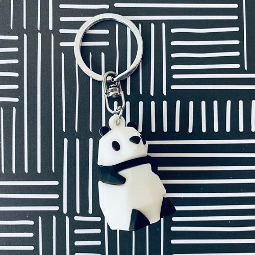 sleutelhanger | panda | zwart-wit