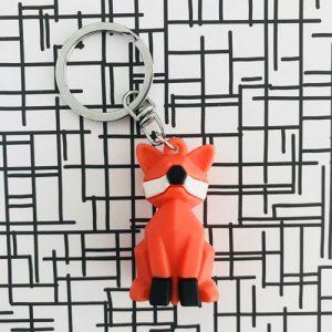 sleutelhanger | vos | oranje