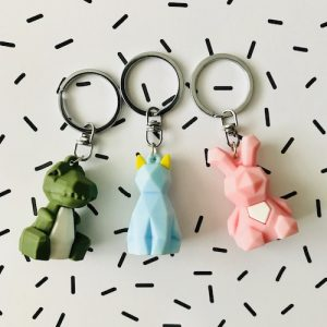 sleutelhangers | dino, kat en konijn