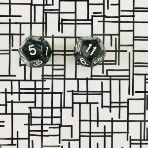 spel | dobbelstenen | zwart | tafels oefenen