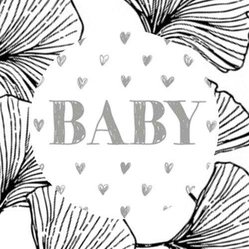 sticker | baby | hartjes