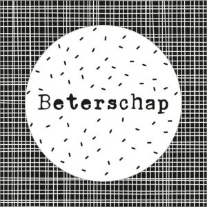sticker | beterschap | wit-zwart