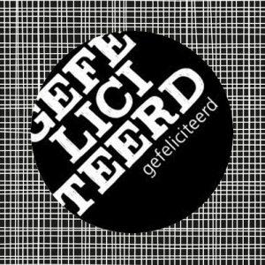 sticker | gefeliciteerd | close-up