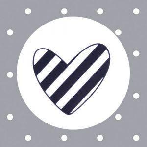sticker | gestreept hartje