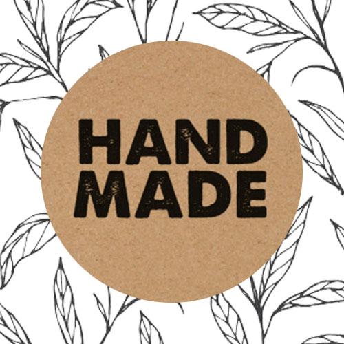 sticker | handmade | kraft
